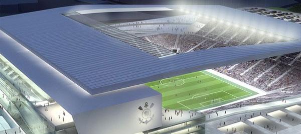 Maquete eletrônica do futuro estádio do Corinthians