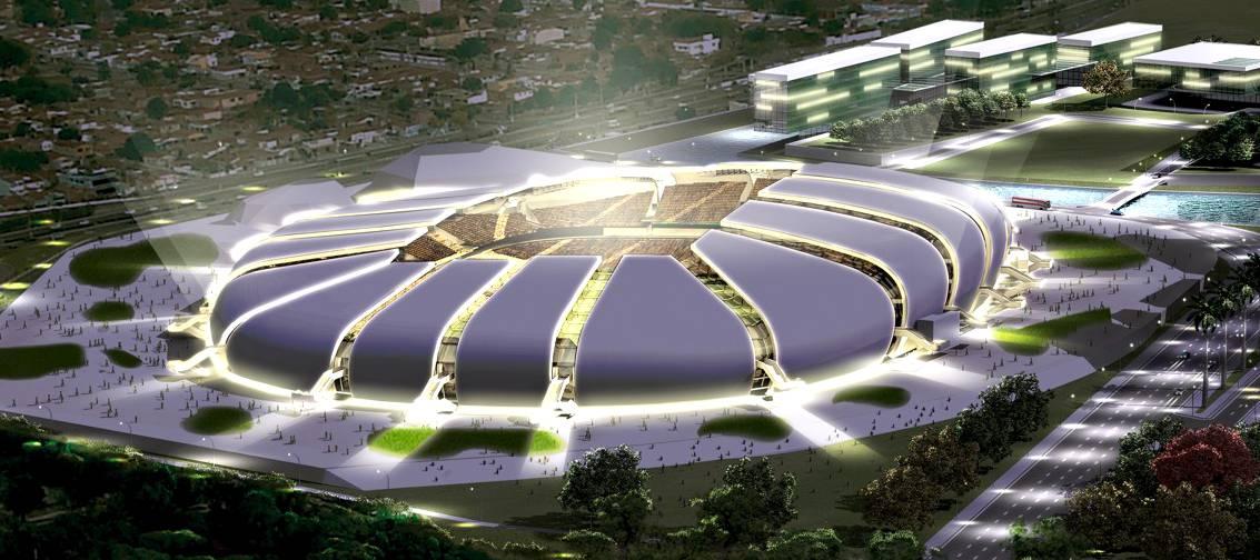 Imagem do projeto da Arena das Dunas em Natal