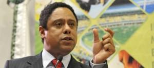 O ministro do Esporte, Orlando Silva, durante seminário em Brasília