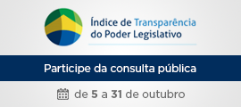 Consulta Pública do índice de transparência do Poder Legislativo
