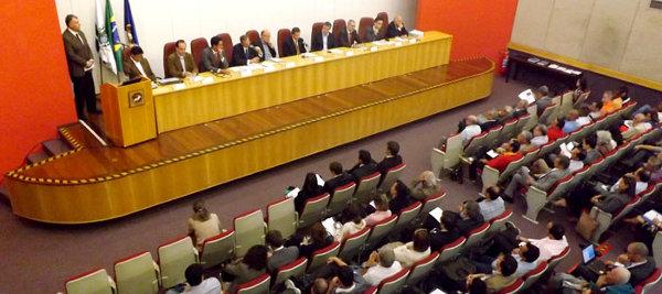 Auditório cheio durante a audiência pública sobre os impactos do Porto Maravilha. Foto: MPRJ/Divulgação