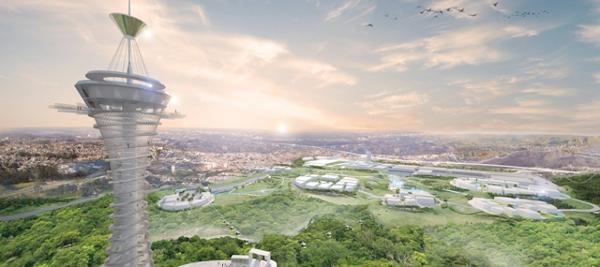 Ilustração do projeto do centro de convenções de Pirituba, que concorre para receber a Expo 2020.