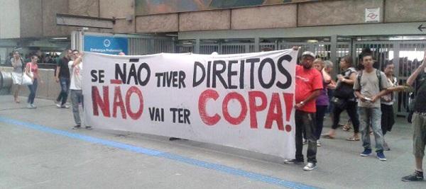 Lema dos protestos contra a Copa (Foto: GAPP)