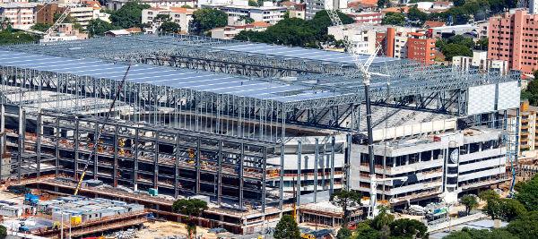 Imagem da Arena da Baixada em janeiro de 2014. Crédito: Portal Copa 2014/Divulgação