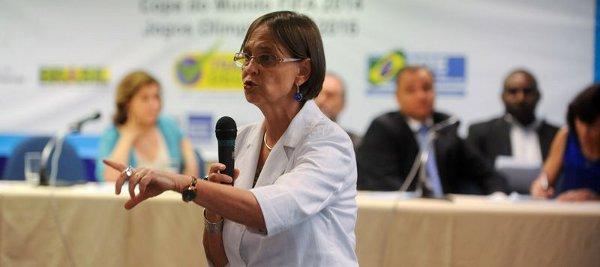 Laís Abramo, diretora da OIT no Brasil, durante seminário sobre trabalho decente nos megaeventos. Foto: Tânia Rêgo/Agência Brasil