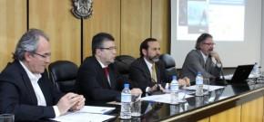 Jorge Abrahão (Ethos), Jorge Eluf (OAB-SP), Luciano dos Santos (MCCE) e Caio Magri (Ethos), durante o seminário. Crédito: Marco Aurélio Martins/Instituto Ethos