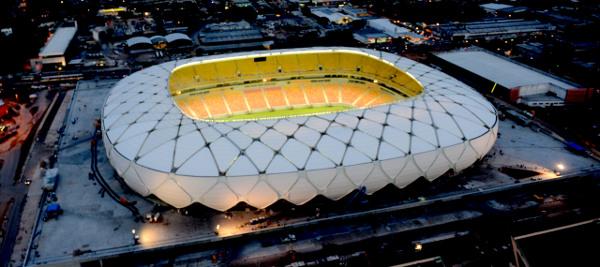 Ajuste fiscal faz governo do Estado do Amazonas reduzir gastos com arena da Copa 2014. Foto: Chico Batata/Agecom/AM