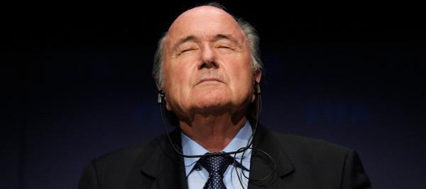 """Joseph Blatter: """"Embora tenha um mandato dos membros da Fifa, não sinto que tenha o mandato do mundo do futebol"""". Foto: FIFA/AFP"""